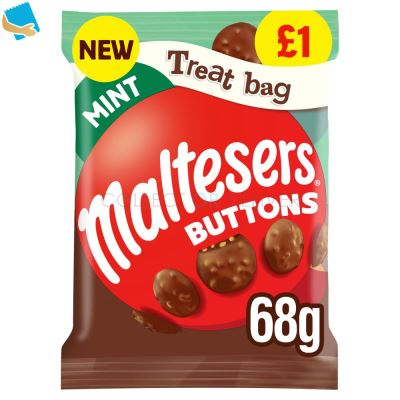 Maltesers Buttons Mint Chocolate Treat Bag 68g